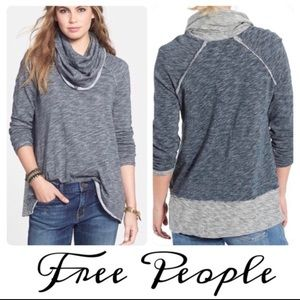 FP Beach Cowl Neck Cotton Knit Tunic